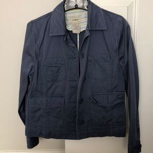 LL Bean blue jacket